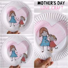 100 Thoughtful Sweet Mother's Day Crafts For Kids - This Tiny Blue House Easy Mother's Day Crafts, Mothers Day Crafts For Kids, Mothers Day Cards, Cute Crafts, Craft Stick Crafts, Preschool Crafts, Diy For Kids, Crafts To Make, Kindergarten Crafts