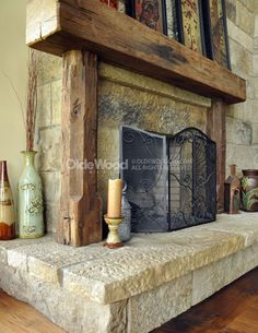 rustic+fireplace+mantels | barn beam fireplace mantels our reclaimed rustic fireplace mantels ...