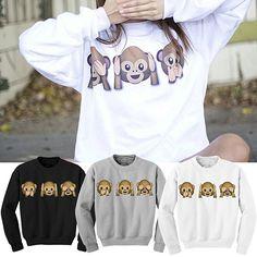 Women Funny 3D Emoji Monkeys Sweats Sweatsuit Pullover Hoodie Top T-shirts Wear  http://playertronics.com/products/women-funny-3d-emoji-monkeys-sweats-sweatsuit-pullover-hoodie-top-t-shirts-wear/