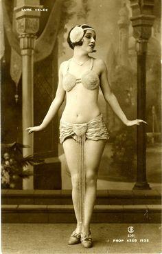 Lupe Velez, ca.1925 known as the Mexican Spitfire. Johnny (Tarzan)Weissmuller's first wife. Mistress to Gary Cooper. Girlfriend to  John Gilbert, Clark Gable, Charlie Chaplin, Erich Maria Remarque, Errol Flynn and Mexican actor Arturo de Córdova.