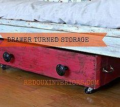 DIY Shoe Storage From Old Drawer