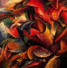`dynamism` d'un corps humain - (Umberto Boccioni)