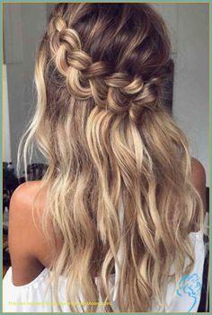Crown Braid Wedding, Wedding Braids, Wedding Hairstyles For Long Hair, Party Hairstyles, Loose Hairstyles, Girl Hairstyles, Hairstyle Ideas, Halo Braid, Hairstyles 2018