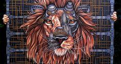 Artist Paula Duta Draws An Awesome Steampunk Lion