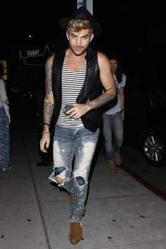 Adam Lambert - Leaving 'The Nice Guy' in LA - July 2, 2015