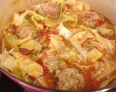 Paleo Un-Stuffed Cabbage Soup.  If you like stuffed cabbage, you'll like this!  Tastes just like it!
