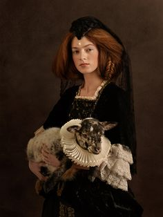 Sacha Goldberger's portraits are so inspiring. Neo-Flemish beauty.