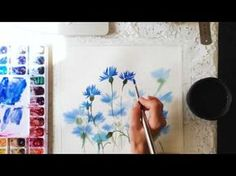 Cornflowers in watercolor - YouTube