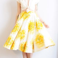'Honeysuckle' circle skirt // Dethrose Vintage --- [clyde's // rebirth]
