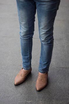 New Brown Loafers Winter Women Shoes leather by KatzAndBirds