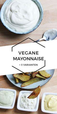 Vegan Mayonnaise + 3 tasty variations Cheap And Cheerful Cooking - Vegan - Vegetarian Recipes Vegetarian Lifestyle, Vegan Vegetarian, Vegetarian Recipes, Healthy Recipes, Cooking Recipes, Vegan Recetas, Vegetable Soup Healthy, Vigan, Going Vegan