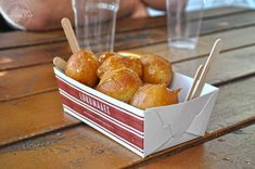 loukoumades, Greek donut balls with honey