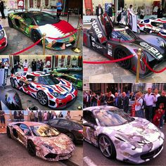 The Gumball 3000 Rally cars in Monaco. Which supercar would you pick?