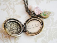 Locket Marriage Proposal... So cute and different :) #marriage #proposal #stjohnsjewelers