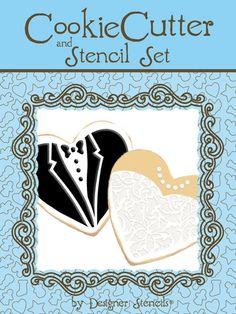 Bride & Groom Cookie Cutter and Stencil Set by Designer Stencils