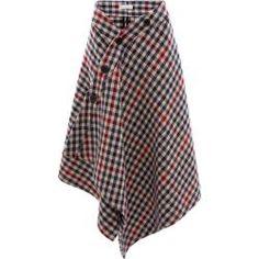 Woolen skirts for women - Jw Anderson Plaid Skirt – Blue J. Skirt Outfits, Dress Skirt, Midi Skirt, Winter Fashion Casual, Fashion Black, Asymmetrical Skirt, Couture, Wool Skirts, Vintage Skirt