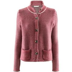 FTC Cashmere Bordeaux Pink Cashmere Cardigan ($585) ❤ liked on Polyvore