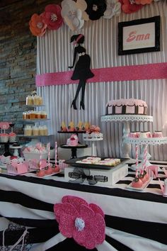What an amazing Baby Shower! The backdrop is so chic!! See more party ideas and share yours at CatchMyParty.com #babyshower #backdrop #desserttable