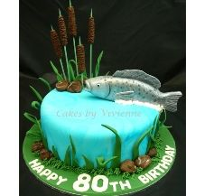 80th Birthday Fish Cake