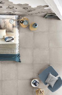 Rewind Collection: Concrete Effect Porcelain Stoneware Hexagon Tiles, Mosaic Tiles, Color Tile, Outdoor Areas, Porcelain Tile, Paint Colors, Stoneware, Concrete, Vanilla