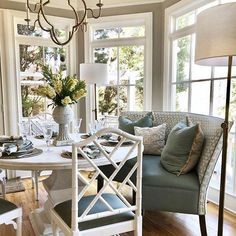 Andrews Pedestal Dining Table Dining Room Decor decorating bay window in dining room Pedestal Dining Table, Dining Table In Kitchen, Dining Tables, Kitchen Nook, Kitchen Small, Console Tables, Round Dining, Kitchen Layout, Banquette Seating In Kitchen