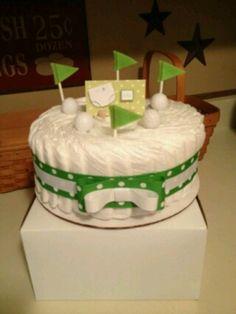 Baby Shower Golf Diaper Cake