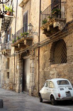 Palermo, Sicily (by the cherry blossom girl) & a fiat!  #palermo   #sicilia #sicily
