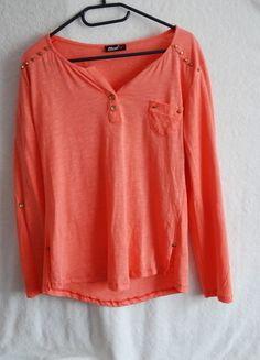 Kup mój przedmiot na #vintedpl http://www.vinted.pl/damska-odziez/bluzki-z-dlugimi-rekawami/13991167-rozowo-pomaranczowa-koszulka