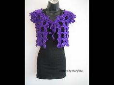 how to crochet easy flower bolero for beginners free pattern tutorial