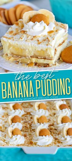 The BEST Banana Pudding recipe you'll ever try! This timeless, no bake dessert is always a winner with friends and family and is so delicious! Made with layers of fresh bananas, Nilla wafers, fresh whipped cream and banana pudding! // Mom On Timeout #bananapudding #bananarecipe #bananas #pudding #nobake #summerrecipes #dessert #desserts #bananapuddingrecipe No Bake Banana Pudding, Banana Pudding Desserts, Banana Dessert, Banana Recipes, Banana Cream Pie Recipe With Pudding, Bannana Pudding, Nilla Wafer Banana Pudding, Fancy Desserts, No Bake Desserts