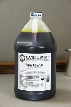 source of ferric chloride for nice range of color, wrap in foil.