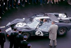 The McLaren-Amon Ford GT-40 Mk.II wins at Le Mans, 1966.