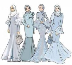 Fashion sketches wedding art 22 ideas for 2019 Fashion Model Sketch, Fashion Sketches, Fashion Models, Fashion 2020, Hijab Gown, Hijab Dress Party, Kebaya Hijab, Dress Design Sketches, Fashion Design Drawings