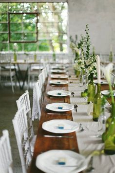 Fresh and green tablescape