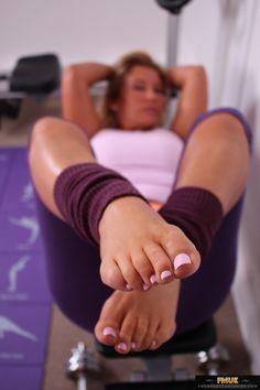 Women feet lick