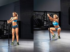 Sculpt your inner and outer thighs with this Diamond Squat exercise for sexy legs. Use a broomstick if you don't have a bar at home.