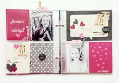 Monthly Moments So Loved Layout by Danielle Flanders for Papertrey Ink (February 2014)