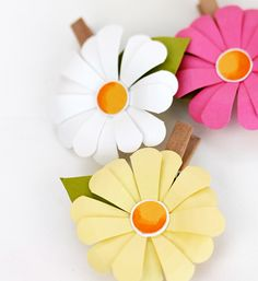 1528 best paper flowers images on pinterest in 2018 artificial you can make these cute and quick darling little daisies in under ten minutes they mightylinksfo