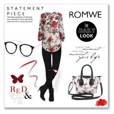 """Romwe#8"" by slavka-jovic ❤ liked on Polyvore featuring WALL and Burberry"