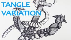 ANCHOR Zentangle | Speed Drawing with Tangle Variations