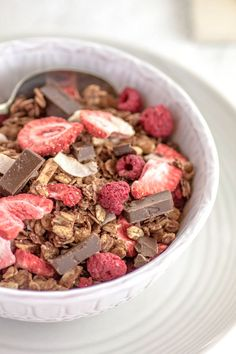 Superfood Chocolate and Berry Granola