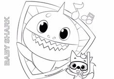 Baby Shark Coloring Page Fresh Pinkfong Baby Shark Coloring Pages Name Coloring Pages, Shark Coloring Pages, Detailed Coloring Pages, Coloring Pages For Kids, Coloring Books, Christian Preschool, Coloring Pages Inspirational, Baby Shark, Baby Birthday