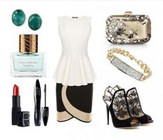 It's chic, it's elegant and its perfect choice for a special nigh out! We create this outfit with Herve Leroux skirt, Alexander McQueen top, Jimmy Choo sandals and clutch. Evening Outfits, Evening Dresses, Pretty Outfits, Jimmy Choo, Alexander Mcqueen, Elegant, Chic, Fashion Designers, Womens Fashion