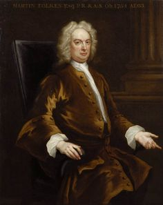 Folkes, Martin (1690-1754), painting by John Vanderbank the Younger (b. 1694, London, d. 1739, London)