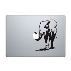 Elephant Vinyl Decal / Sticker to fit Macbook by StickerScience, $5.49
