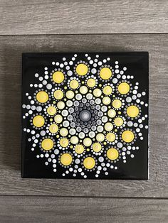 A personal favorite from my Etsy shop https://www.etsy.com/listing/523280885/single-hand-painted-yellow-and-black