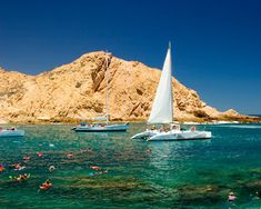 Snorkeling at Lovers' Beach (Playa del Amor) in Cabo San Lucas, Mexico. Best day of my life. So beautiful.