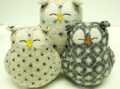 felted wool owls! $26