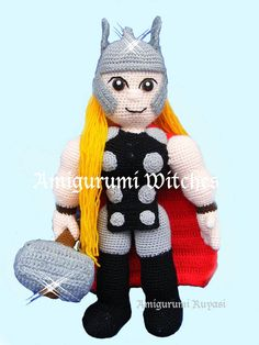 Thor by AmigurumiWitches on Etsy