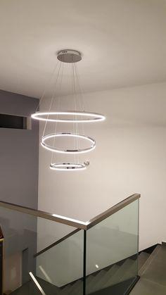 2er Set LED Tisch Lampen Wohn Ess Zimmer Chrom Ring Strahler Schalter Big Light